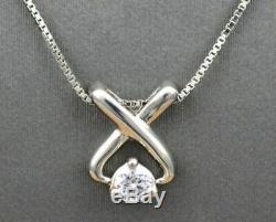0.50 Ct Round Cut Diamond Women's Pendant Necklaces 14K White Gold Finish