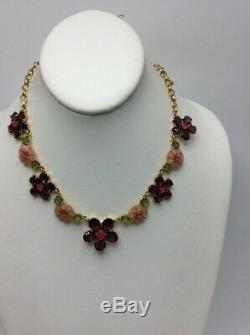 $148 Kate Spade In Full Bloom Gold Plated Collar Necklace- Multi Color A1F