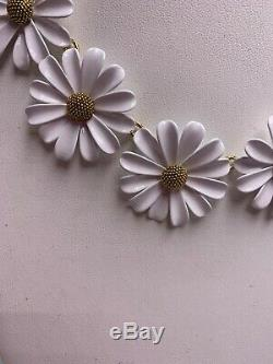$148 Kate Spade gold tone white daisy flower INTO THE BLOOM A 310