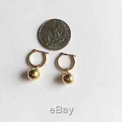 14K Yellow Gold drop earrings for baby girl