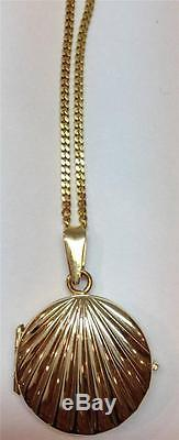 14k Gold Locket With Chain! Beautiful! 9.5 Grams