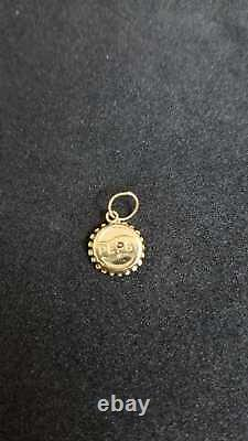 14k Gold Pendant Pepsi Soda Cap Icon with pure Gold and seems Very Beautiful
