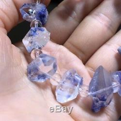 16.710.610.4mm Rare Natural Beautiful Blue Dumortierite Crystal Beads Bracelet