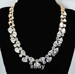 18k Gold GF Necklace made with Auth Swarovski Crystal Diamond Stone Bridal Jewelry