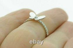 1.12 Ct Diamond Beautiful Engagement Wedding Butterfly Style Ring 14K White Gold