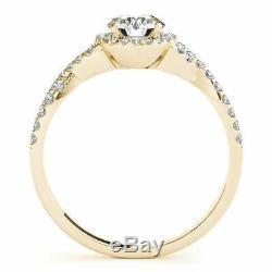 1.20 Ct Round Diamond Engagement Wedding Ring 14k Yellow Gold Over Women's Spl