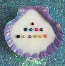20 Twins Individual Wrapped Akoya Oysters 6-8mm AAA Round Pearls Mixed 15 Colors