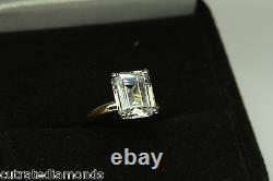 3.00 Ct Emerald Cut Solitaire Engagement Ring 14 Karat Yellow Gold