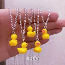 5000pcs Yellow plastic ducky Necklace-mini rubber ducky Necklace jewelry
