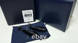 $595 Ralph Lauren COLLECTION BLACK ONYX DROP WOMEN EARRINGS