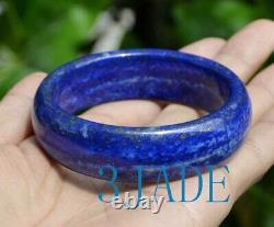 59mm Rare Natural Lapis Lazuli Gemstone Bangle Bracelet
