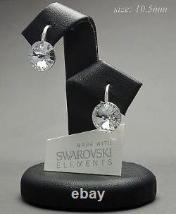 925 Silver Earrings RIVOLI 10.50mm Crystal (Clear) Crystals from Swarovski