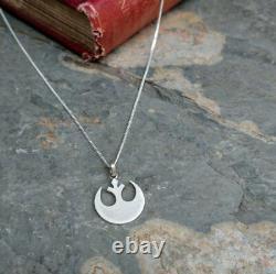 925 Sterling Sliver Star Wars Rebel Alliance Silver Pendant Necklace