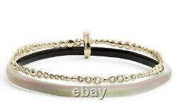 Alexis Bittar 131832 Lucite Paired Yellow Gold Plated Bangle Swarovski Bracelet
