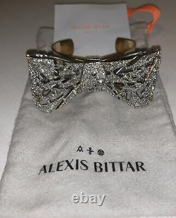 Alexis Bittar Crystal Bow Cuff Bracelet NWOT