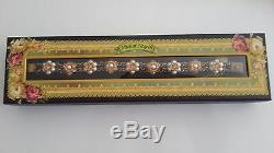 Amaizing Beautiful Designer Michal Negrin Bracelet With Pearls And Gold Flowers