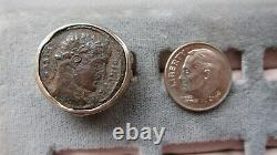 Ancient Roman Coin Ring Sterling Silver Size 7 Steven Battelle
