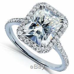 Asscher Cut 1.20Ct Diamond Halo Engagement Wedding Ring 14k White Gold Over