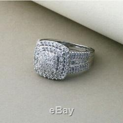 Attractive 1.20Ct Round Cut Diamond Engagement Wedding Ring 14k White Gold Over