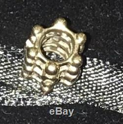 Authentic 14k Gold Pandora Diamond Matrix Charm Beautiful With Box