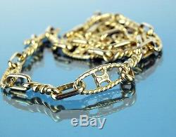 Authentic Celine Paris Gold Tone Chain Necklace Chain Accessories Jewelry Used