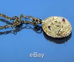 Authentic Chanel Paris Gold Tone Chain Necklace CC Logo Pendant with 10gm France