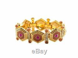 Authentic Gianni Versace Gold-tone bracelet/earring set