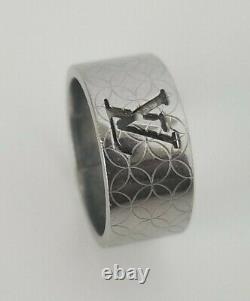Authentic Louis Vuitton Ring LV Cutting Monogram M65456 Mens Size 8