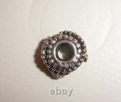 Authentic Pandora Silver 14k Gold Diamond Entangled Beauty Charm Bead 790277D