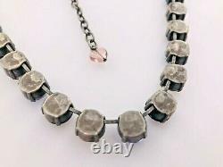 Authentic Sabika Closing Night Manhattan Round Crystal Choker Necklace 16-18