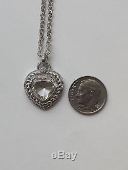 BEAUTIFUL BRAND NEW Judith Ripka Stone Heart Pendant