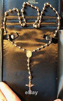 BEAUTIFUL GOLD ROSARY BEADS NECKLACE 20g Gift Boxed