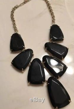 BEAUTIFUL & NEW Kendra Scott Harlow Statement Necklace In Black