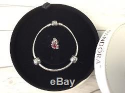 BEAUTIFUL NIB Very Rare HTF Authentic 2012 Pandora Bracelet Gift Set