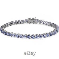 BEAUTIFUL TANZANITE HEART. 925 Sterling Silver Bracelet 8
