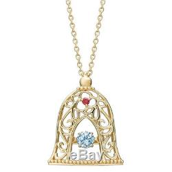 BLOOM x Disney Beauty and the Beast Bell Silver 950 Necklace From Japan New F/S