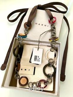 BNWB! BEAUTIFUL LONG & CHUNKY CHAIN&METAL STATEMENT DESIGNER NECKLACE by Marni