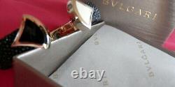 BVLGARI Diva's Dream Fan Shaped Black/White Mosaics Cuff Bracelet BRAND NEW