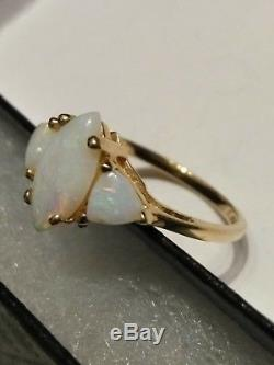 Beautiful 10k Gold Ring by designer R Klein marked KLJCI size 8