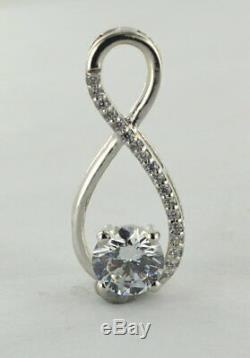 Beautiful 1.0 Ct Round Excellent Cut Moissanite Halo Pendant 925 Sterling Silver