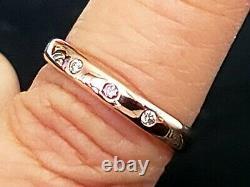 Beautiful 9ct Rose Gold Gypsy Argyle Pink Diamond 4pp 0.03ct Si1 Wedding Band