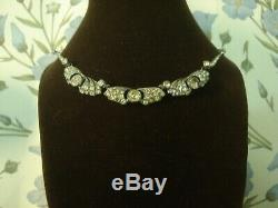 Beautiful Antique Art Deco Glittering Diamond Paste Stones Set Riviere Necklace