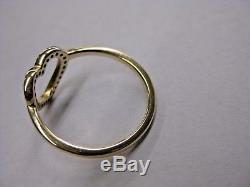 Beautiful! Authentic Pandora Captured Heart 14K Gold Ring