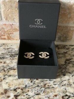 Beautiful CHANEL Logo Earrings