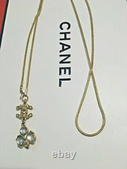 Beautiful Chanel Cc Long chain Necklace, long pendent, rose gold plated