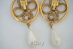 Beautiful Chanel Pearl Drop Earrings