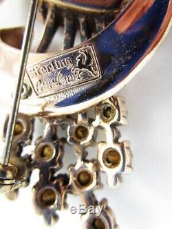 Beautiful Corocraft Coro Sterling Retro Style Pin