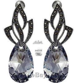 Beautiful Earrings Swarovski Crystals Comet Admire Sterling Silver 925
