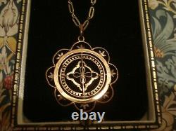Beautiful & Finely Crafted Antique Edwardian Rolled Gold Pendant Necklace