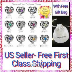 Beautiful Grandson Heart Charm 100% sterling silver S925 With Free Pandora Pouch